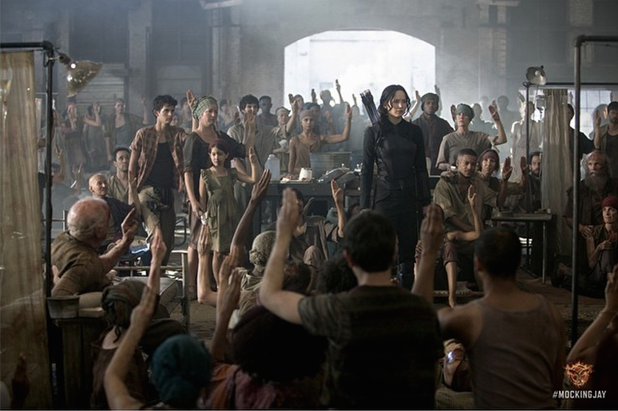 Patients saluting Katniss