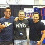 Peter Dante rocking with former red ranger of the 90's Rocky - Steve Cardenas